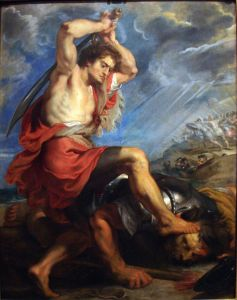 David Slaying Goliath, by Peter Paul Rubens, 1616