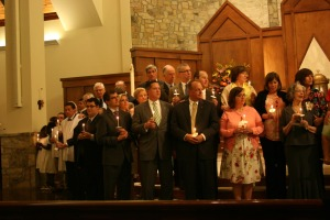 Easter Vigil at Saint Pius X, 2012